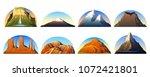 mountains peaks  landscape... | Shutterstock .eps vector #1072421801