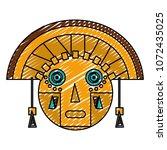 doodle aztec indigenous... | Shutterstock .eps vector #1072435025