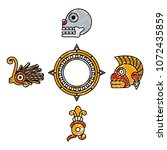 doodle indigenous traditional... | Shutterstock .eps vector #1072435859