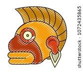 doodle indigenous ozamatli... | Shutterstock .eps vector #1072435865