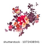 graceful flowers  the leaves... | Shutterstock . vector #1072438541