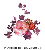 graceful flowers  the leaves... | Shutterstock . vector #1072438574