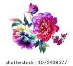 graceful flowers  the leaves... | Shutterstock . vector #1072438577
