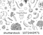 organic vegetables food banners.... | Shutterstock .eps vector #1072443971