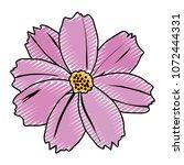 doodle spring natural flower... | Shutterstock .eps vector #1072444331