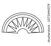 line aztec indigenous head... | Shutterstock .eps vector #1072444379