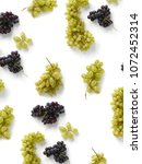 black and green grapes isolated ... | Shutterstock . vector #1072452314