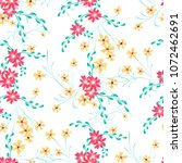 small floral seamless pattern... | Shutterstock .eps vector #1072462691