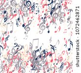 square frame of musical notes.... | Shutterstock .eps vector #1072462871