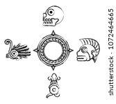 grunge indigenous traditional... | Shutterstock .eps vector #1072464665