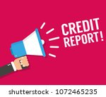 credit report promotion and... | Shutterstock .eps vector #1072465235
