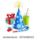 cap  gift  smoothie  cinema...   Shutterstock .eps vector #1072468151