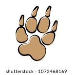 paw print icon  dog  cat  fox...   Shutterstock .eps vector #1072468169