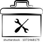 toolbox icon vector art...   Shutterstock .eps vector #1072468175