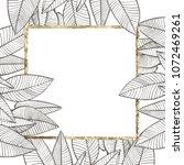 summer tropical leaves vector...   Shutterstock .eps vector #1072469261