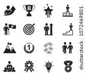 motivation icons. black flat... | Shutterstock .eps vector #1072469801