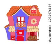 kids house cartoon design....   Shutterstock .eps vector #1072476899