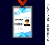 identity card design template.   Shutterstock .eps vector #1072476947