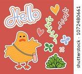 chicken cartoon illustration  ...   Shutterstock .eps vector #1072480661