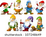 collection of dwarfs of... | Shutterstock .eps vector #107248649