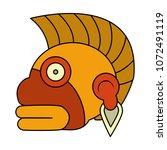 color indigenous ozamatli... | Shutterstock .eps vector #1072491119