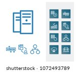 server technology icon set and...