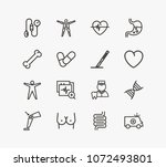 healthcare icon set and heart...