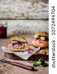 tuna salad  red onion and... | Shutterstock . vector #1072494704
