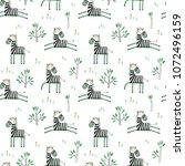 seamless vector pattern zebras...   Shutterstock .eps vector #1072496159