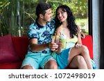 lifestyle summer portrait of... | Shutterstock . vector #1072498019