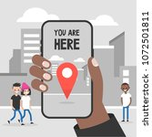 you are here. navigation in the ... | Shutterstock .eps vector #1072501811