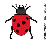 color nature ladybug insect...   Shutterstock .eps vector #1072502639