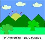 branch green leave on white... | Shutterstock .eps vector #1072505891