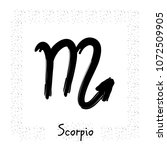 scorpio vector zodiac sign ... | Shutterstock .eps vector #1072509905