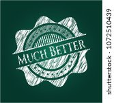 much better chalkboard emblem | Shutterstock .eps vector #1072510439