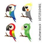set of different cartoon... | Shutterstock .eps vector #1072510481