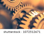 industrial gear wheels  close... | Shutterstock . vector #1072512671