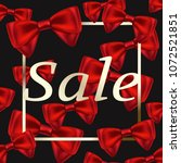sale banner with red ribbons on ... | Shutterstock .eps vector #1072521851
