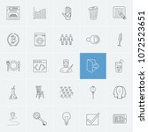 pack icons set with lamp ...