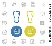 telephone icon with beer glass  ...