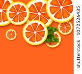 grapefruit background. sliced...   Shutterstock .eps vector #1072526435