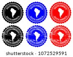 south america   rubber stamp  ... | Shutterstock .eps vector #1072529591