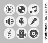 music flat vector icons set.... | Shutterstock .eps vector #1072531145