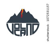 illustration of volcano with... | Shutterstock .eps vector #1072531157