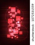 vector abstract background in... | Shutterstock .eps vector #1072531559
