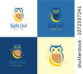 night owl logo and icon. vector ... | Shutterstock .eps vector #1072537241