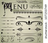 set of retro design elements... | Shutterstock .eps vector #107253749