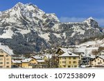 view of the town of engelberg... | Shutterstock . vector #1072538099