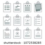 checklist isolated on white... | Shutterstock .eps vector #1072538285