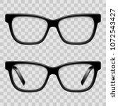 black framed glasses | Shutterstock .eps vector #1072543427